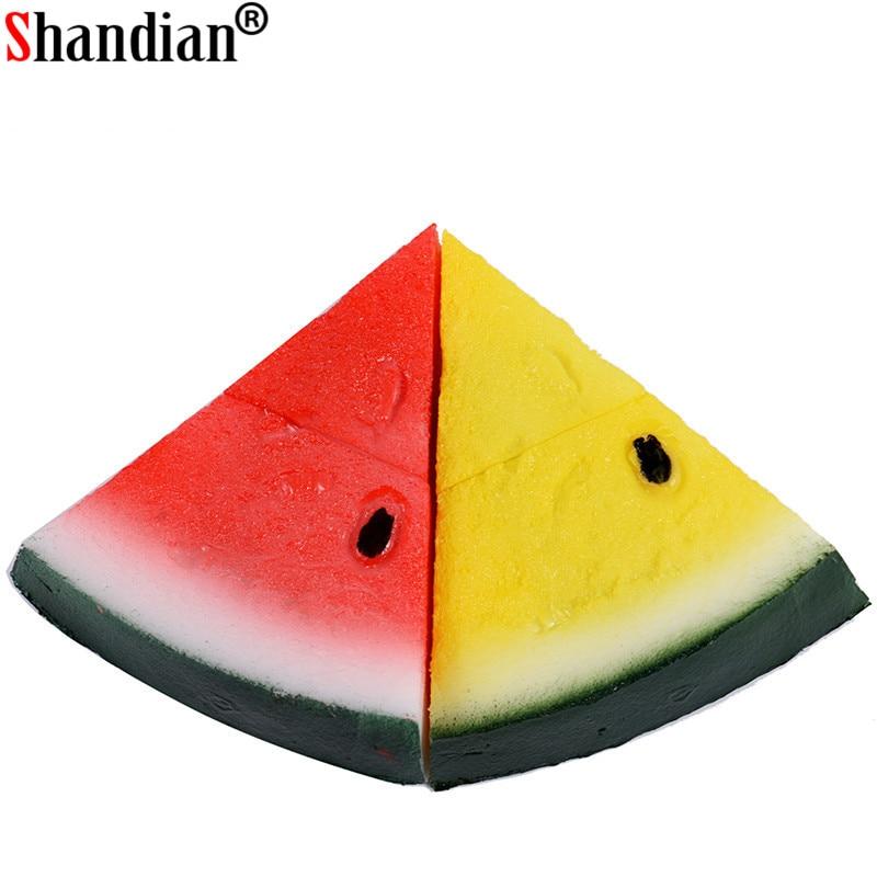 SHANDIAN Watermelon USB Flash Drive 64GB 32GB 16GB 8GB 4GB Pen Drive Memory Stick USB 2.0 Disk Wholesalers Fruit Pendrive Toys