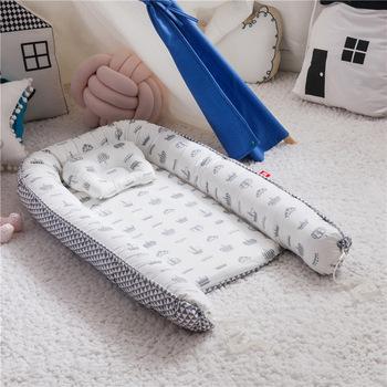 Nowe łóżeczko dziecięce zderzak łóżko przenośne łóżeczko dziecięce łóżeczko dziecięce łóżeczko dziecięce noworodek łóżeczko dziecięce składane bawełniane gniazdo dziecięce tanie i dobre opinie Unisex W wieku 0-6m 7-12m CN (pochodzenie) Tkaniny 85*45 cm Cartoon 50x85cm baby bed infant bassinet portable removable