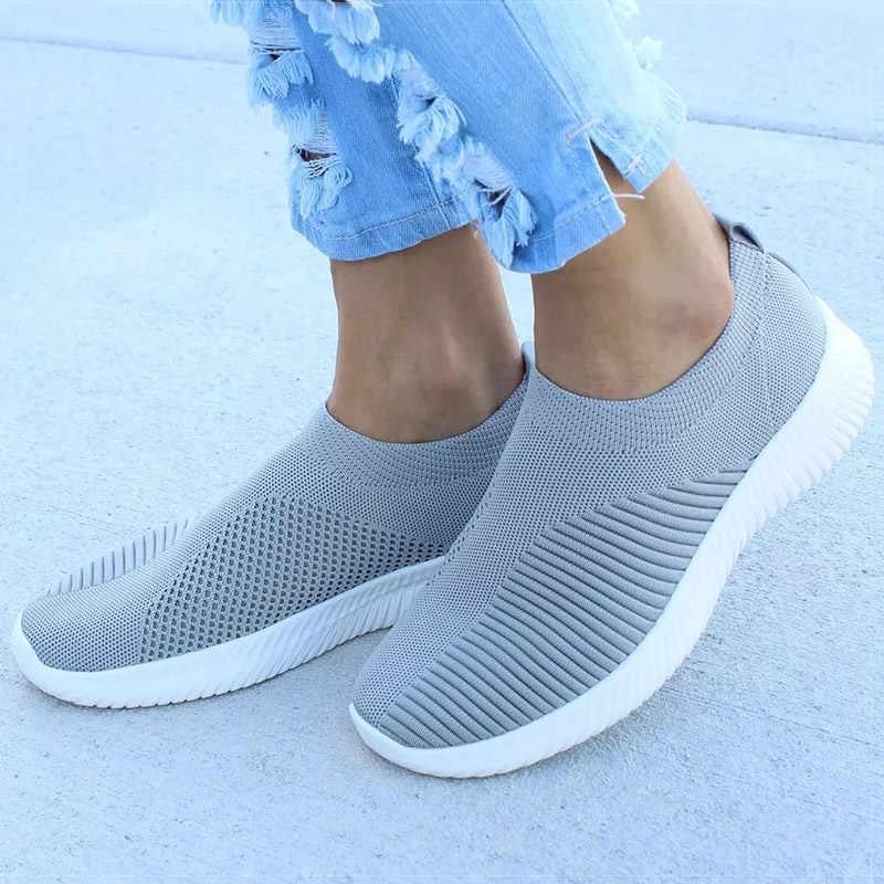 2020 ผู้หญิงแบนลื่นบนรองเท้า Espadrilles สีขาวรองเท้าผ้าใบฤดูร้อนฤดูใบไม้ร่วง Loafers Chaussures Femme ตะกร้ารองเท้ารองเท้าเดินรองเท้า