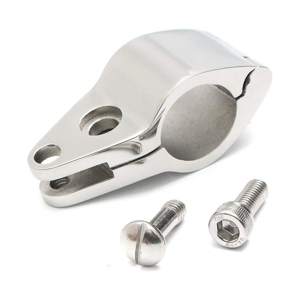 Antirust Awning Clamp Mini Fitting <font><b>Boat</b></font> <font><b>Bimini</b></font> <font><b>Top</b></font> Hinged Jaw Marine <font><b>Hardware</b></font> Stainless Steel Easy Install Durable Slide image