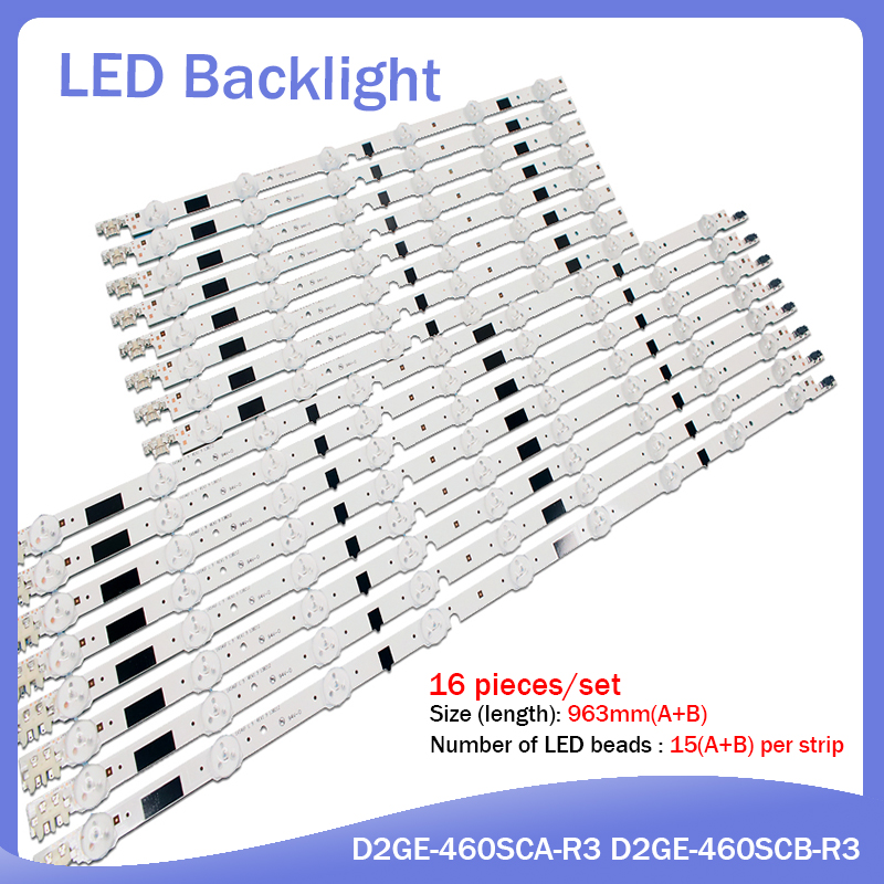 16pcs X 46 Inch LED 2013SVS46F D2GE-460SCA-R3 For Samsung CY-HF460BGLV1V BN95-00891A UA46F5080AR/5500AJ UA46F6100AJ UA46F6420AJ