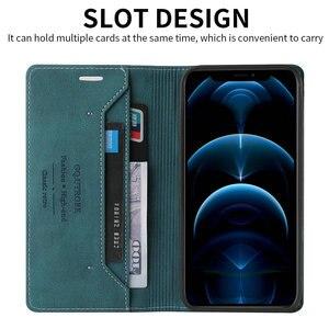 Image 3 - For Realme C11 C 15 Flip Case Magnet Texture Leather Shield RFID Blocking 360 Protect for OPPO Realme C15 Case Realmi C 11 Funda