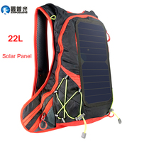 Xinpuguang 6W 6V USB Red Backpack Solar Panel Battery Power Bank Charger for Smartphone Outdoor Camping ClimbingTravel Hiking