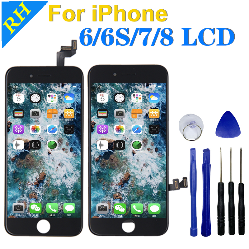 AAA LCD Display 100%3D Touch Screen For iPhone 6S 7 8 6G Replacement Screen With Digitizer Assembly For iPhone Repair Tools Gift image