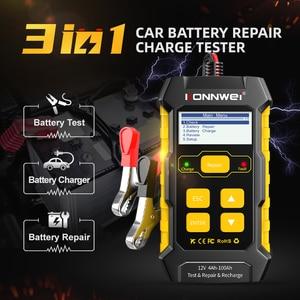 Image 4 - Konnwei kw510 testador de bateria de carro 12v carregadores de bateria automática reparação 5a bateria carregadores molhado seco chumbo ácido ferramenta de reparo de carro