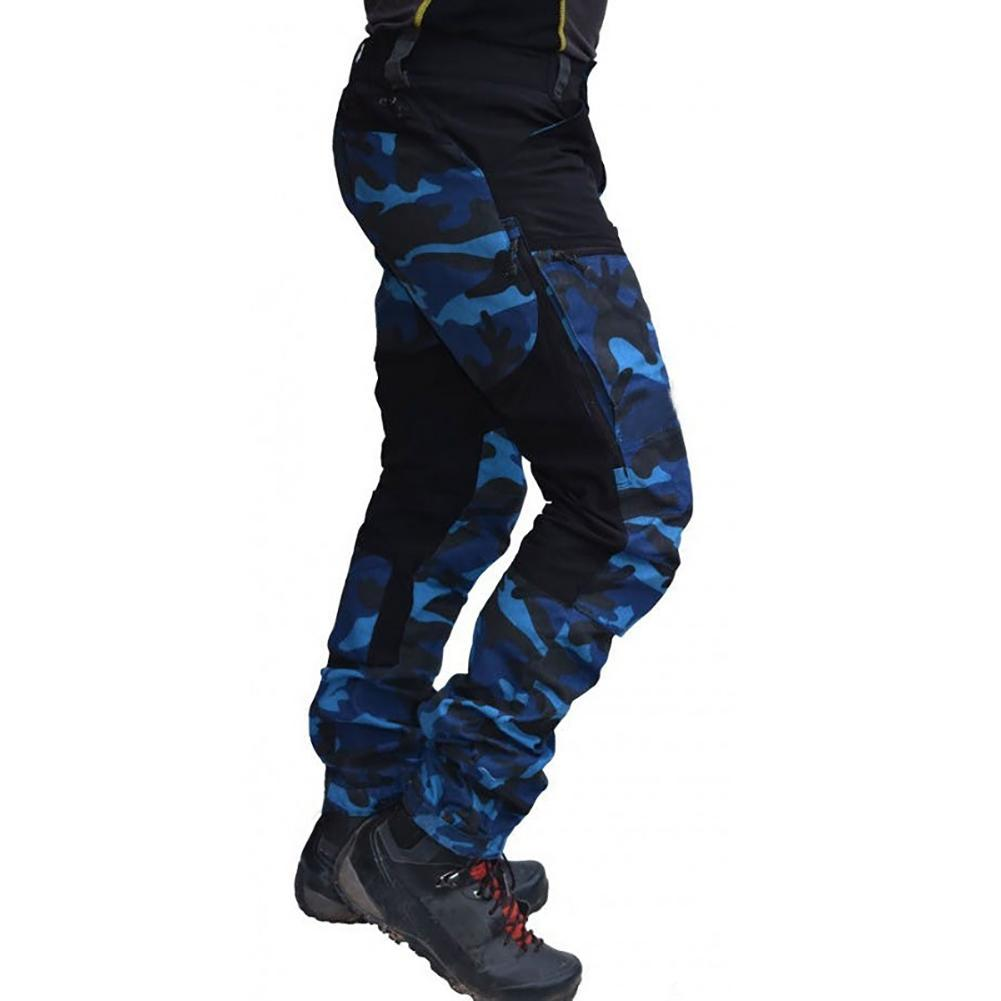 Брюки-карго мужские камуфляжные, Джоггеры в стиле пэчворк, с карманами, мотобрюки, рабочие Свободные повседневные Прямые укороченные штаны