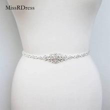 Missrvestido-cinturón con cristales para mujer, cinturón de boda con diamantes de imitación finos, JK868