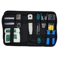 HLZS Network Tool Kit Set, Crimp Tool Rj45, Cat5 Cat6 Cable Tester Repair Wire Stripping Cutter, Rj45 Coax Plug Crimping, Rj11 W