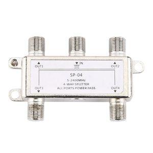 Image 5 - 5 2400MHz 4 웨이 HD 디지털 동축 케이블 분배기 4 채널 위성/안테나 TV 신호 분배기 수신기 SATV/CATV X6HB
