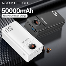 Power Bank 50000mah QC 3.0 PD 18W Two Way Quick Charge PowerBank Fast Charge External Battery Poverbank For iPhone Xiaomi