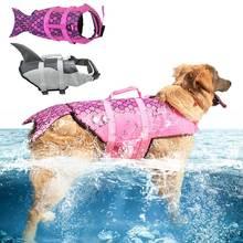 Light-Stick Pet-Life-Jacket Dog-Safety-Clothes Printed Summer 10-30kg Super-Floating