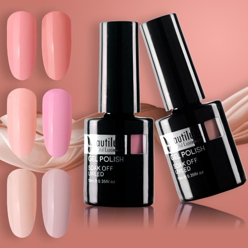 Beautilux 1pc Natural Elegant Light Pink Rose Skin Color Gel Nail Polish Soak Off UV LED Gels Polish Nail Art  Lacquer 10ml