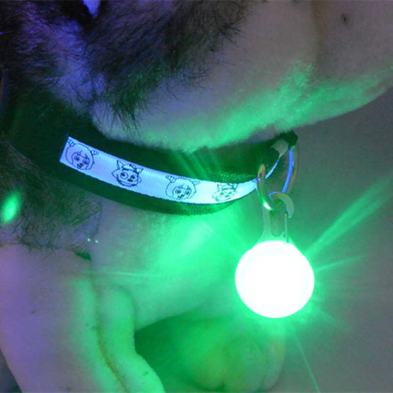 1 PCS LED Flashlight Dog Cat Collar Glowing Pendant Night Safety Pet Leads Necklace Luminous Bright Decoration Collars For Dogs