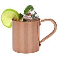 420ml Smooth Cup Water Mule Moscow Beer Solid Mug Coffee Milk Pure Copper Cocktail|כוסות|בית וגן -