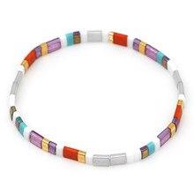 Go2boho miyuki tila pulseira feminina amizade presentes boho pulseiras 2021 moda boêmio jóias estiramento jóias atacado