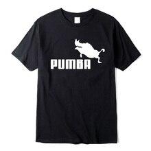 2019 New brand t shirts homme Pumba print men short sleeves