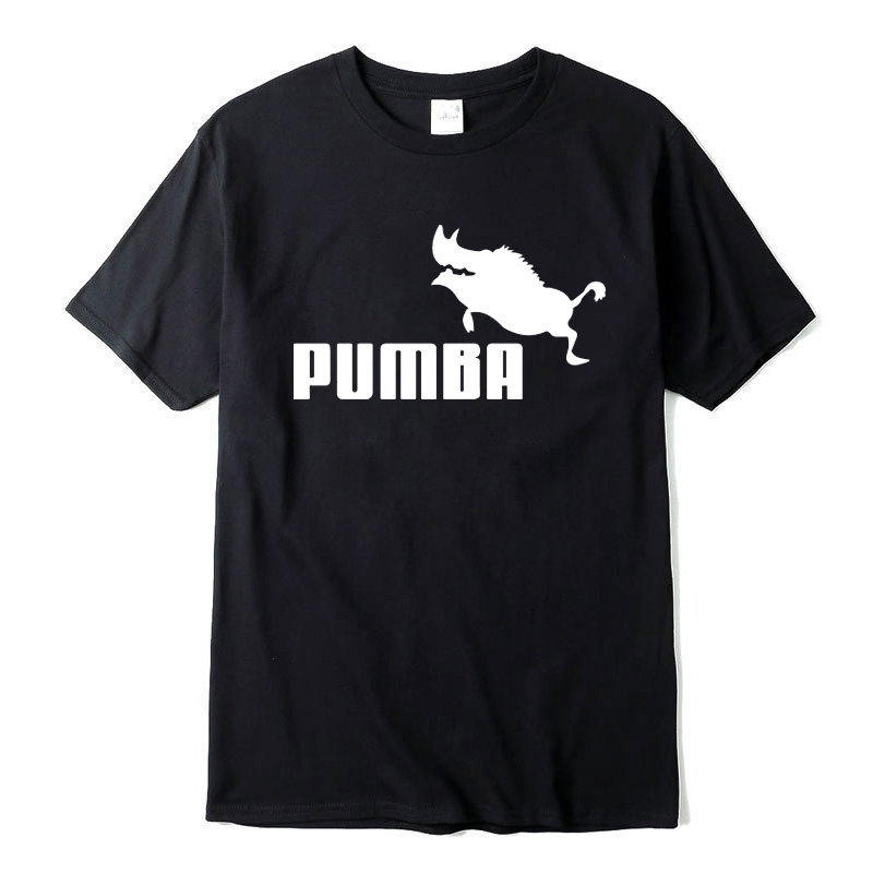 2019 nouvelle marque t-shirts homme Pumba imprimer hommes manches courtes t-shirt 100% coton garçon été décontracté t-shirt plus mode t-shirt