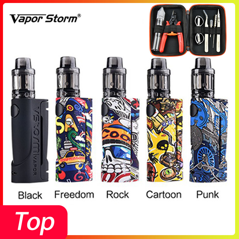 Optional Gift Vape Cigarette Kit Vapor Storm ECO Vape Kit Max 90W & 3.5ml Disposable Tank Box Mod Vape Electronic Cigarette Kit