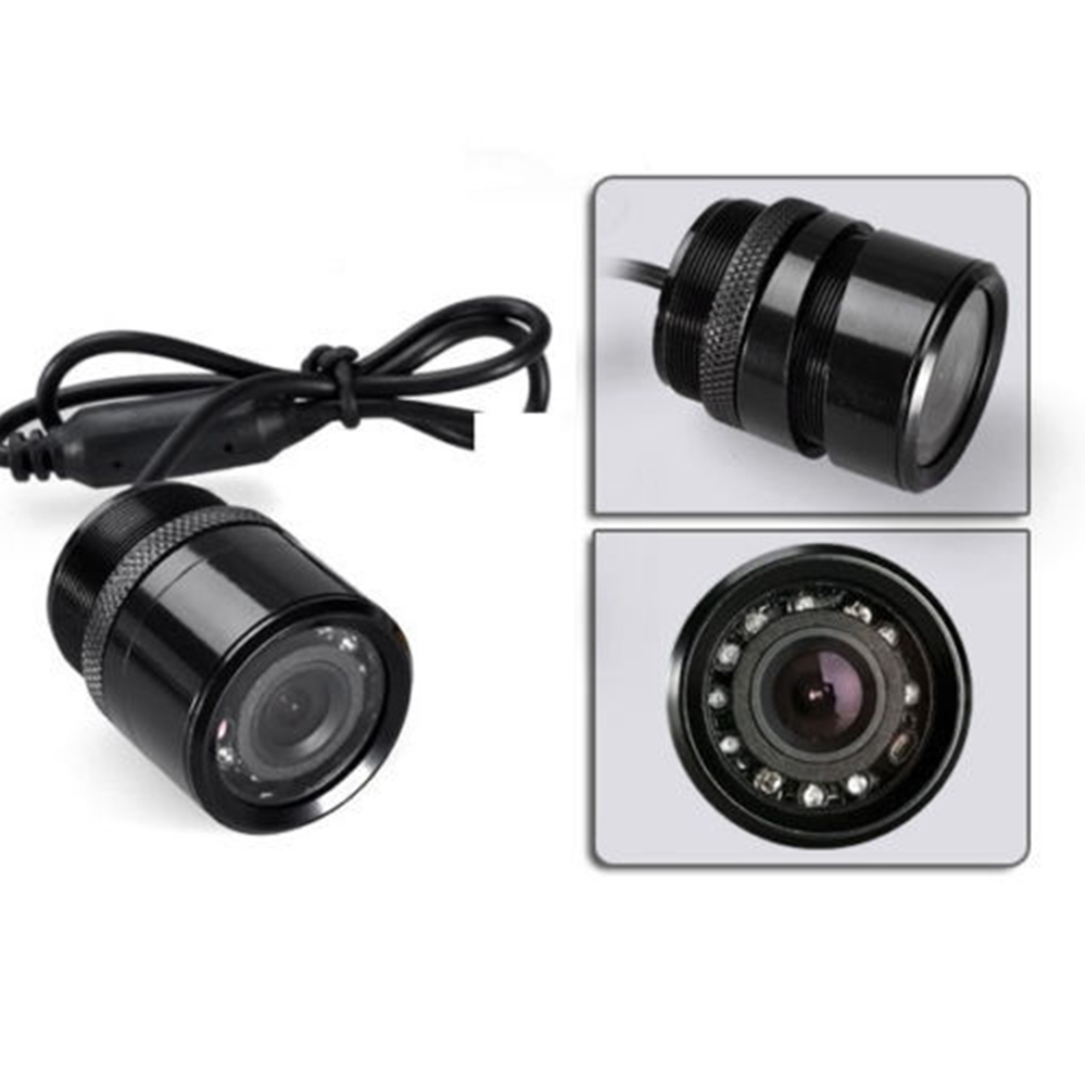 28mm Waterproof  Car Rear View Drilling Camera  PAL/NTSC CCD Reverse Rearview Back-up Night Vision