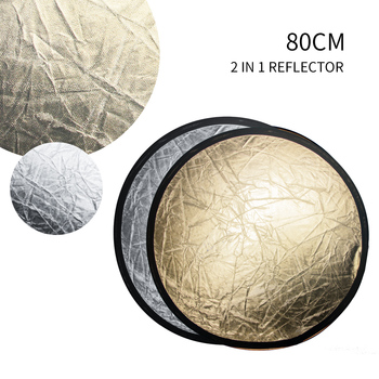 SH 31 5 #8222 (80cm) 2-in-1 Disc dyfuzory światła składany okrągły reflektor z torbą srebrny i złoty do fotografii Photo Studio tanie i dobre opinie CN (pochodzenie) SH-FGB-2-80DF 31x31x3CM ROUND 0 25KG Warm up the picture Brighten the picture