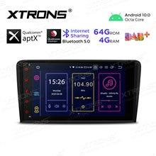 XTRONS – autoradio Android 10.0, Bluetooth 5.0, Qualcomm, lecteur stéréo, sans DVD, pour voiture Audi A3 8P (2003 – 2009, 2010, 2011, 2012), S3, RS3, Sportback
