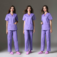 Hospital dental oral beauty salon male and female doctors to wear hand-washing clothes brush the uniform of nurses