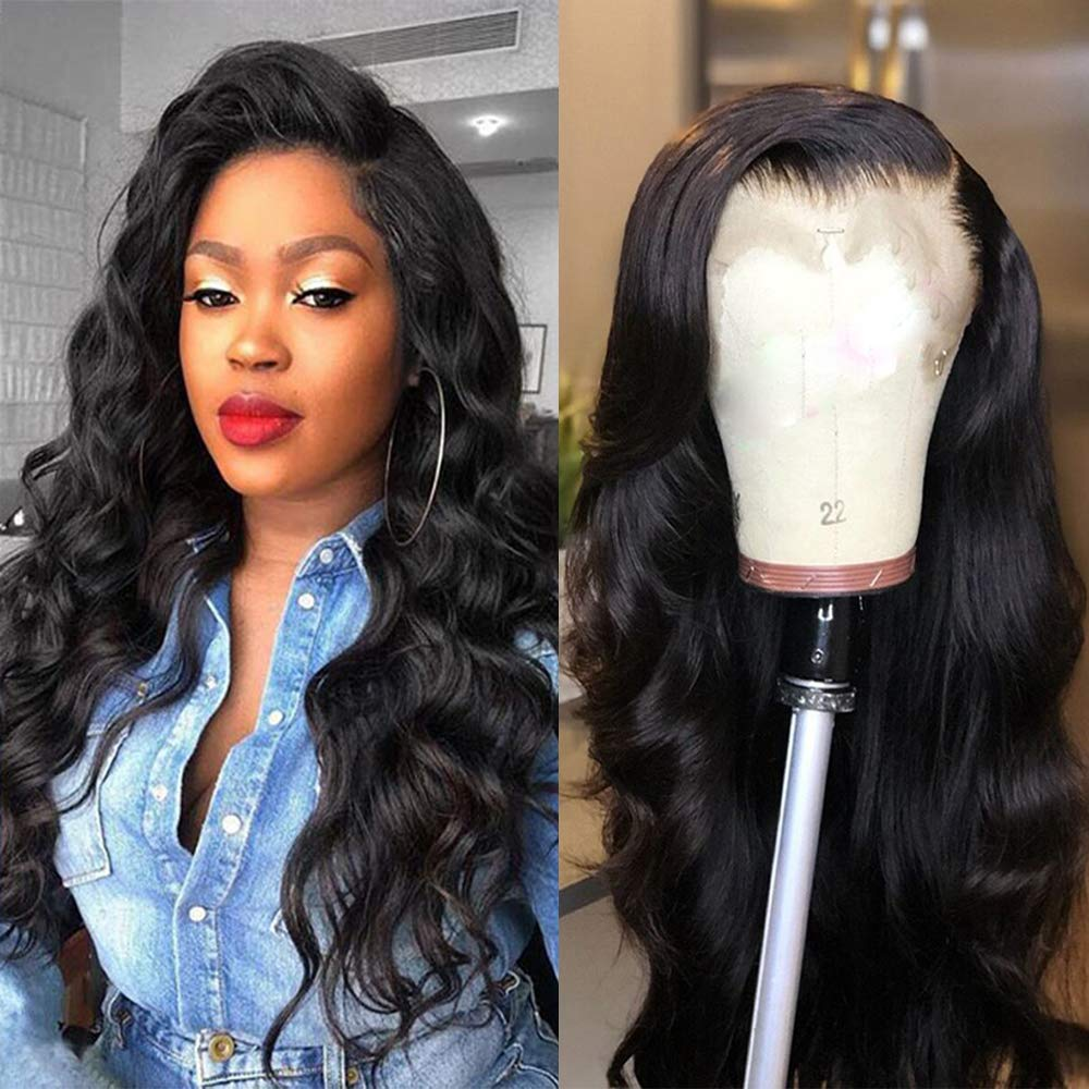 Brazilian Body Wave Lace Front Human Hair Wigs 13*4 Lace Frontal Wig Natural Hairline With Baby Hair Bleached Knots 10-24inch