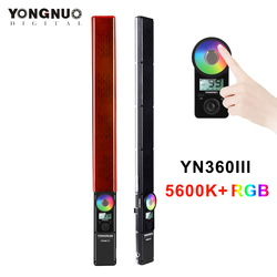 YONGNUO YN360III 5600K+RGB Full Color Handheld LED Video Light Dimmable Fill Light Bar Touch Adjusting Mode with Remote Control