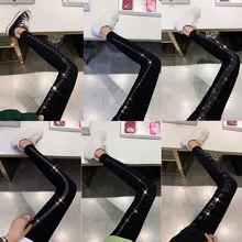 Sexy Women Hot Drilling Letter Leggings Push Up Hips Party Diamond Leggings Elastic High Waist Bling Rhinestone Slim Leggings