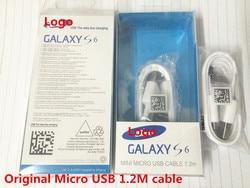 100 pçs/lote qualidade Original Cabo de 1.2M Micro USB Cabo do Carregador de Sincronização de Dados de Carregamento Rápido para Nota 5 S6 Borda s7 Com caixa original