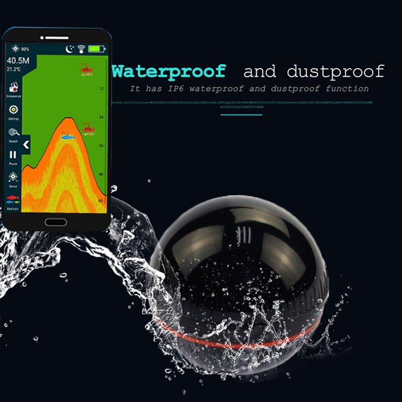 portatil inteligente sem fio sonar sensor inventor de peixes para lago mar pesca no gelo sonar