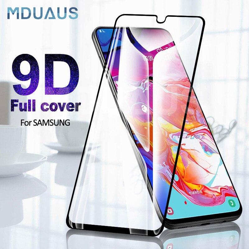 9D Vidro De Proteção sobre Para Samsung Galaxy A10 A20 A30 A40 A50 A60 Protetor de Tela Para Samsung A70 A80 A90 vidro M10 M20 M30 M40