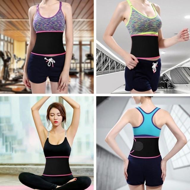 Sport Waist Trimmer Belt Weight Loss Sweat Band Wrap Fat Tummy Stomach Sauna Sweat Belt 1