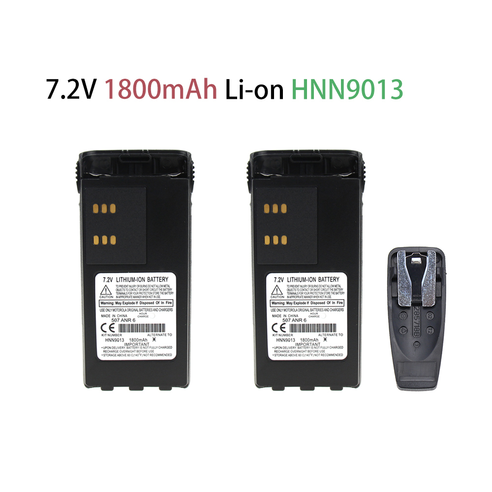 2 Pcs 1800mAh ExpertPower HNN9008 HNN9009 Battery Extended For Motorola GP328 HT750 HT1250 HT1550