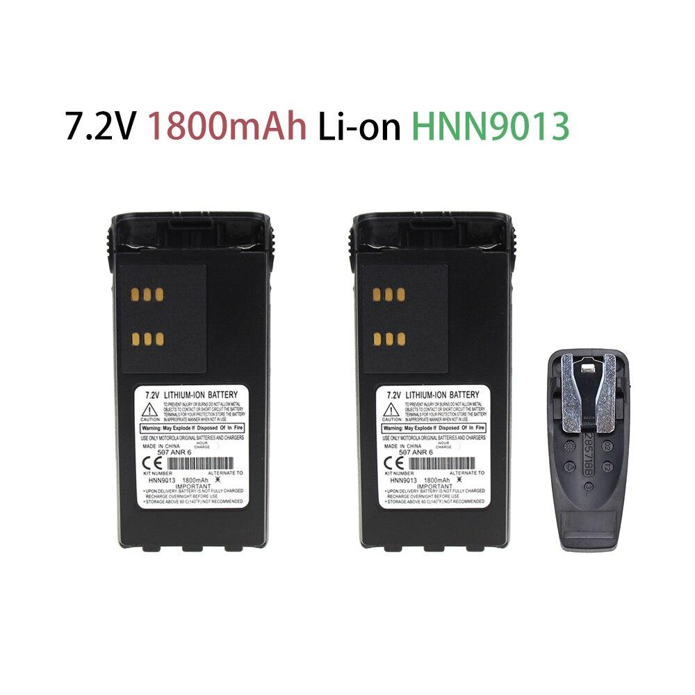 2 Pcs 1800mAh ExpertPower HNN9008 HNN9009 Battery Extended For Motorola GP328 HT750 HT1250 HT1550