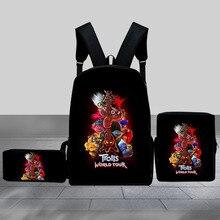 3 Pcs/set School Bags Backpack Boys Set Children Kids Schoolbag for Teenagers Student Book Bag