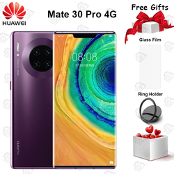 Перейти на Алиэкспресс и купить original huawei mate 30 pro 4g mobile phone 6.53дюйм. 8g+128g kirin 990 android 10 triple cameras 40mp front camera 32mp smartphone