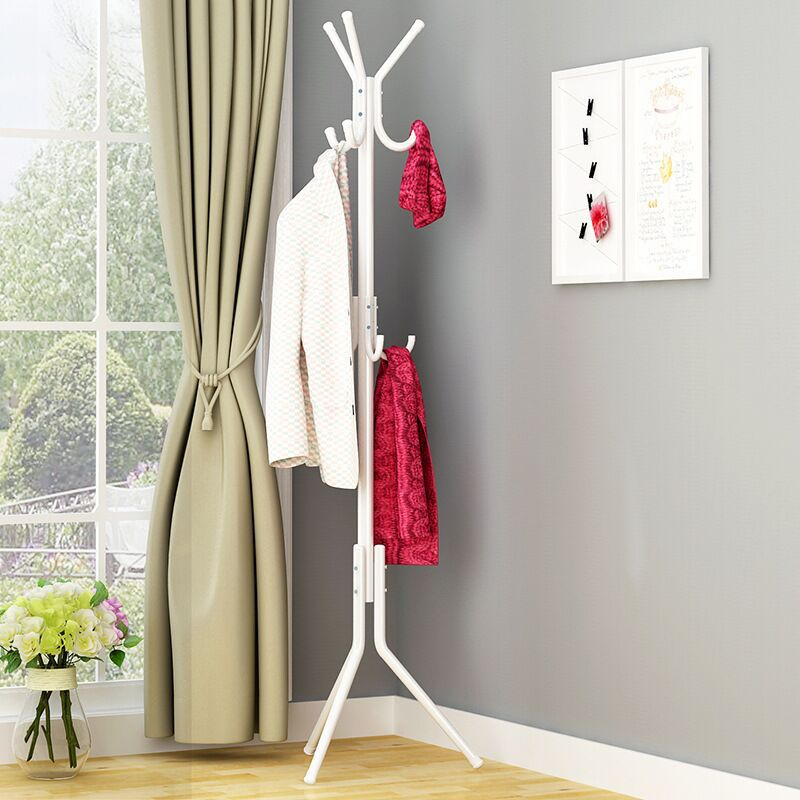 2019 New Simple Metal Coat Rack Assembled Living Room Hat Clothing Display Stand Multi Hooks Hanging Clothes Home Furniture