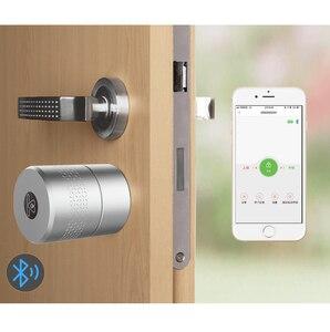 Tuya умный цилиндр отпечатков пальцев Bluetooth умный замок Smartlife Zigbee Беспроводной Дверной замок цилиндр для умного дома управление сетью