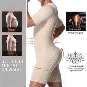 Image 3 - Shapers Sexy Mens Body Shaping Control Slim Corset Shapeware Bodysuit Body Shaper Body PantsWaist Cincher Belly Control Slimming