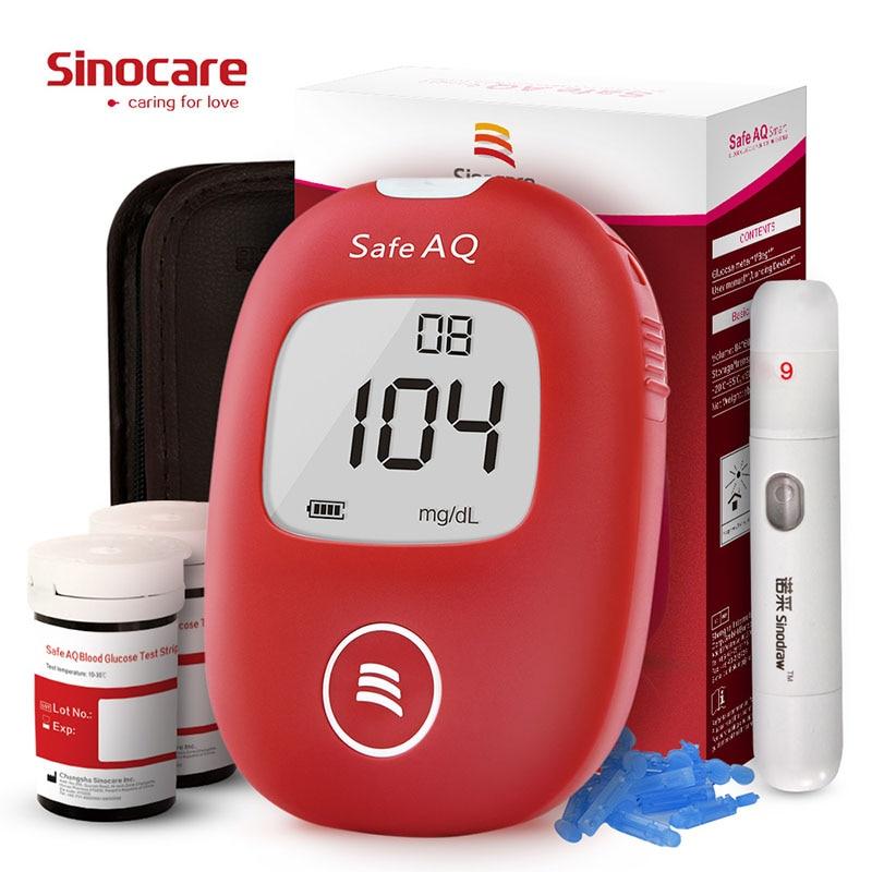Sinocare Safe AQ умный глюкометр в крови глюкометр и тест-полоски иглы монитор сахара тестер диабета домашнее Медицинское Устройство