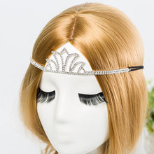 Свадебная тиара с серебряным покрытием и золотым кристаллом