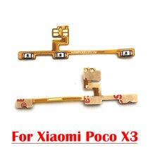 10PCS נפח צד כוח מתג על off כפתור מפתח Flex כבל עבור Xiaomi Poco X3