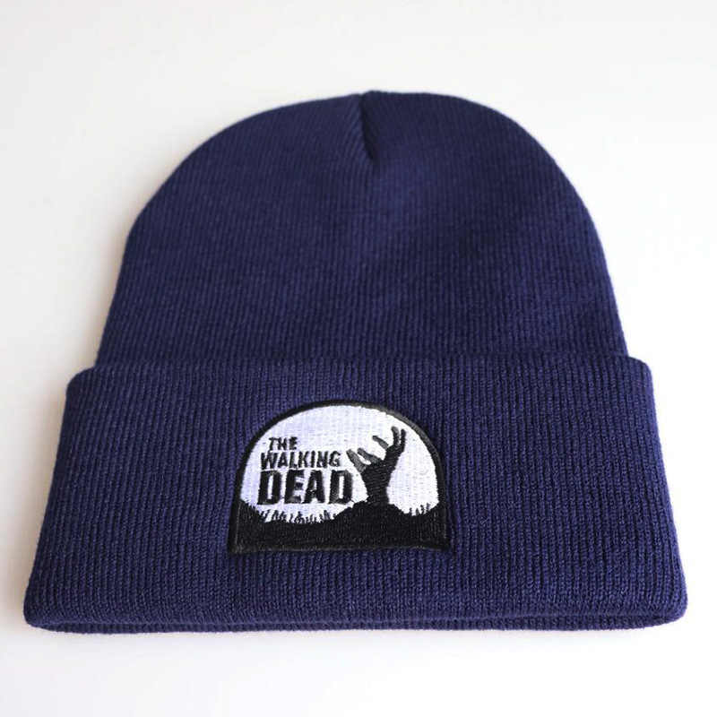 Walking Dead Daryl Dixon Official Gray Embroidered Winter Cap Beanie New
