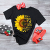 Plus Size 5XL New Fashion Pink Tee Shirts Short Sleeve O Neck Sunflower Letters for Women New Tshirts Casual Tops Shipping 3