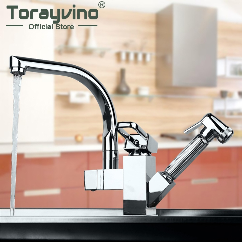 kitchen faucet Solid Brass Kitchen Mixer taps hot and cold Kitchen Tap Single Hole Water Tap Kitchen Faucet torneira cozinha