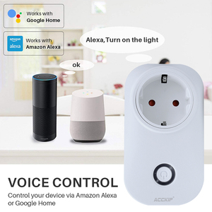 Image 5 - ACCKIP Europe Plug WiFi Smart Socket Voice Control Time Setting Tuya Smart Life App Smart Plug 16A Power Meter Energy Saving