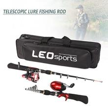 Фото - 1.6m Portable Telescopic Fishing Rod Mini Lure Sea Fishing Rod / Fish Rod + Fishing Wheel Professional Fishing Tool 18cm 65g sea fishing lure professional