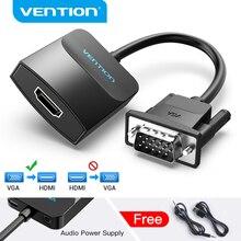 Адаптер Vention VGA-HDMI 1080P VGA папа-HDMI Женский конвертер кабель с аудио USB питание для PS4/3 HDTV VGA HDMI конвертер