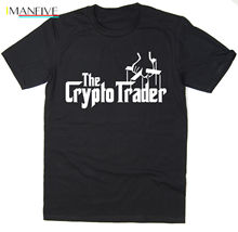 2019 Summer Short sleeve Fashion Tee Shirt The Crypto Trader - T-Shirt - Godfather Spoof - cryptocurrency bitcoin BTC LTC printio crypto